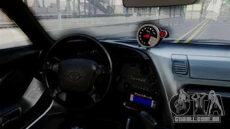 Toyota Supra 1998 FF7 para GTA San Andreas vista direita