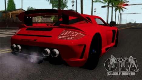 Gemballa Mirage GT v3 Windows Down para GTA San Andreas esquerda vista