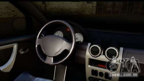 Dacia Sandero Low Tuning para GTA San Andreas vista direita