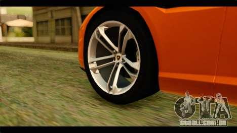 Lamborghini Estoque para GTA San Andreas traseira esquerda vista