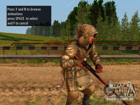 Soviética Sniper para GTA San Andreas décimo tela