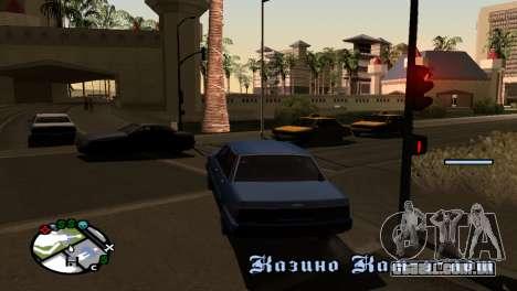 Novo tom, sem perder FPS para GTA San Andreas terceira tela