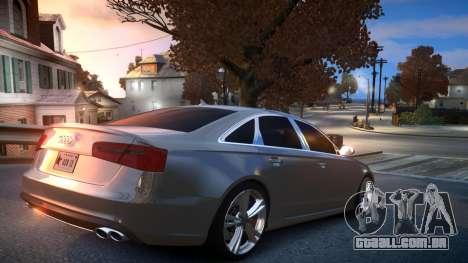 Audi S6 v1.0 2013 para GTA 4 vista direita
