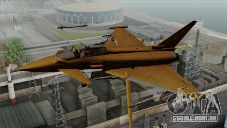 Eurofighter Typhoon Tropical Camo para GTA San Andreas