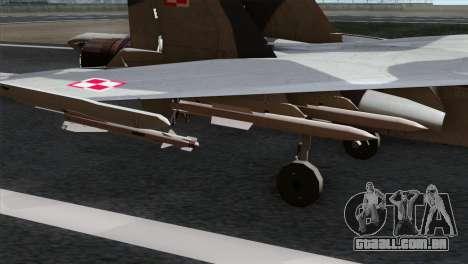 SU-37 Flanker-F Polish Air Force para GTA San Andreas vista direita