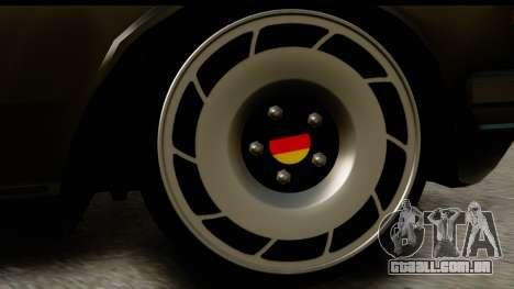 Mercedes-Benz 240 W123 Stance para GTA San Andreas vista traseira