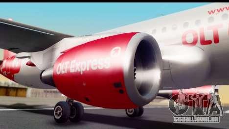 Airbus A320-200 OLT Express para GTA San Andreas vista traseira