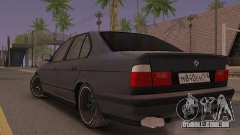 BMW 525i E34 2.0 para GTA San Andreas esquerda vista