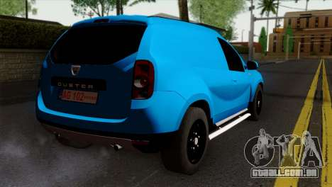 Dacia Duster Van para GTA San Andreas esquerda vista