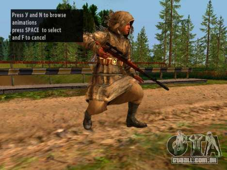 Soviética Sniper para GTA San Andreas oitavo tela