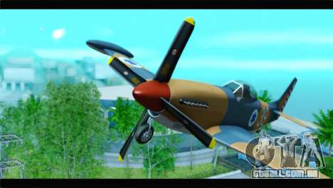 F-51D Israeli Air Force para GTA San Andreas vista direita