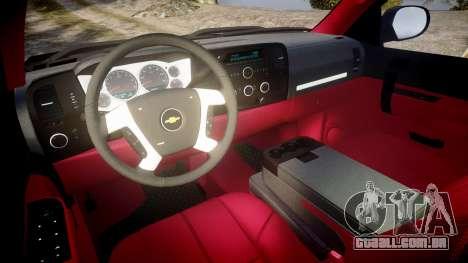Chevrolet Silverado 1500 LT Extended Cab wheels3 para GTA 4 vista de volta