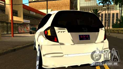 Honda Fit Sport 2009 para GTA San Andreas vista interior