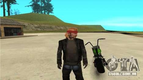 Zombie para GTA San Andreas traseira esquerda vista