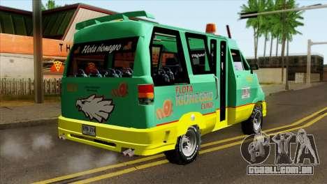 Toyota Microbus v2 para GTA San Andreas esquerda vista