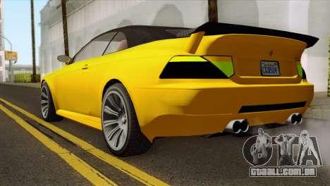 GTA 5 Ubermacht Zion XS Cabrio para GTA San Andreas esquerda vista