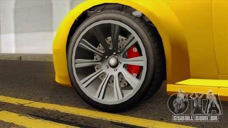 GTA 5 Ubermacht Zion XS Cabrio para GTA San Andreas traseira esquerda vista