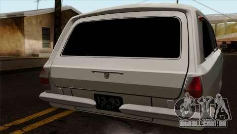 GÁS 2420 para GTA San Andreas traseira esquerda vista