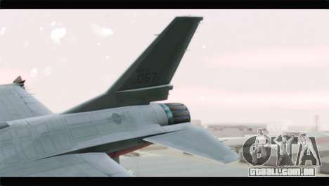 F-16A Republic of Korea Air Force para GTA San Andreas traseira esquerda vista
