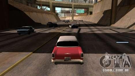 Novo tom, sem perder FPS para GTA San Andreas sexta tela