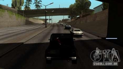 Novo tom, sem perder FPS para GTA San Andreas nono tela