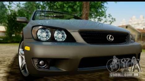 Lexus IS300 Tunable para GTA San Andreas traseira esquerda vista