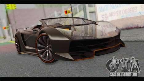 GTA 5 Pegassi Zentorno Spider para GTA San Andreas