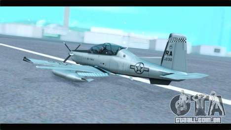 Beechcraft T-6 Texan II US Air Force 4 para GTA San Andreas esquerda vista