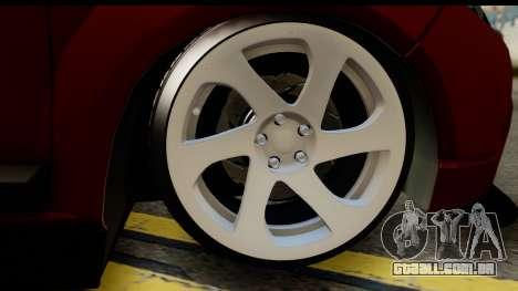 Dacia Sandero Low Tuning para GTA San Andreas traseira esquerda vista