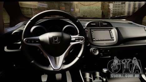 Honda Fit Sport 2009 para GTA San Andreas vista traseira