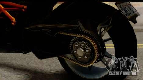 Ducati Diavel 2012 para GTA San Andreas vista interior