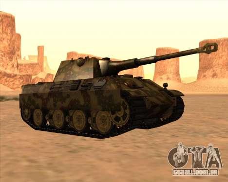 Pz.Kpfw. V Panther II Desert Camo para vista lateral GTA San Andreas