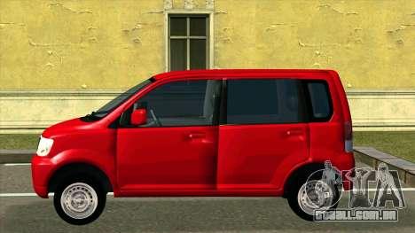 Mitsubishi eK Wagon para GTA San Andreas esquerda vista