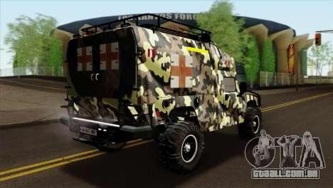 HMMWV M997 Ambulance para GTA San Andreas esquerda vista