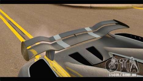 Koenigsegg Agera R 2011 Stock Version para GTA San Andreas vista traseira