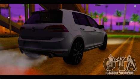 Volkswagen Golf 7 para GTA San Andreas esquerda vista