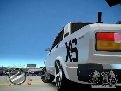 VAZ 2107 Aze para GTA 4 traseira esquerda vista