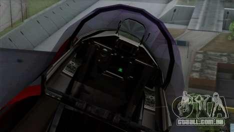 Eurofighter Typhoon 2000 para GTA San Andreas vista traseira