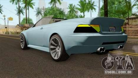 GTA 5 Ubermacht Zion XS Cabrio IVF para GTA San Andreas esquerda vista