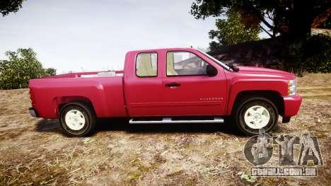 Chevrolet Silverado 1500 LT Extended Cab wheels1 para GTA 4 esquerda vista