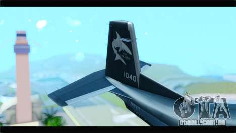 Beechcraft T-6 Texan II United States Navy 2 para GTA San Andreas traseira esquerda vista