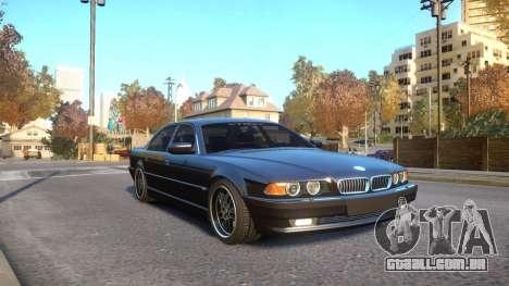 BMW 750i e38 1994 Final para GTA 4 vista de volta