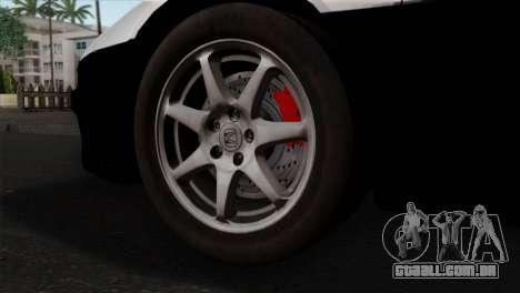 Honda NSX Police Car para GTA San Andreas traseira esquerda vista