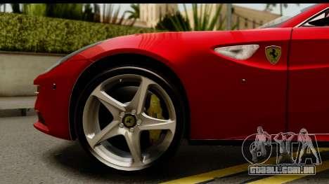 NFS Rivals Ferrari FF para GTA San Andreas vista traseira