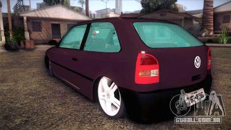 Volkswagen Gol GTI para GTA San Andreas esquerda vista