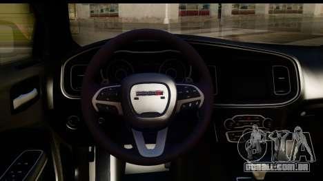 Dodge Charger RT 2015 para GTA San Andreas vista interior