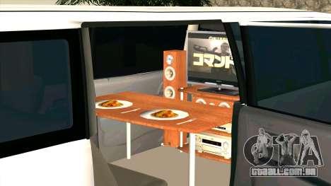Mitsubishi EK Wagon Limo para GTA San Andreas vista interior