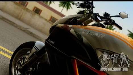 Ducati Diavel 2012 para GTA San Andreas vista direita