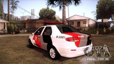 Fiat Siena 2011 para GTA San Andreas esquerda vista