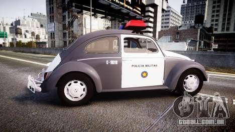 Volkswagen Fusca 1980 Military Police Sao Paulo para GTA 4